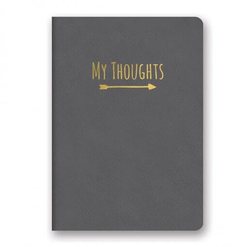 My Thoughts notitieboek grijs