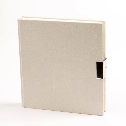 Dagboek met slot creme wit