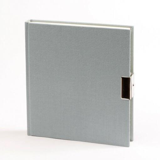 Dagboek met slot grijs