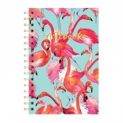 Notitieboek ringband flamingo