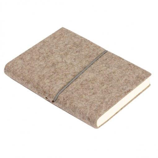 Notitieboek vilt A5 grijs bruin
