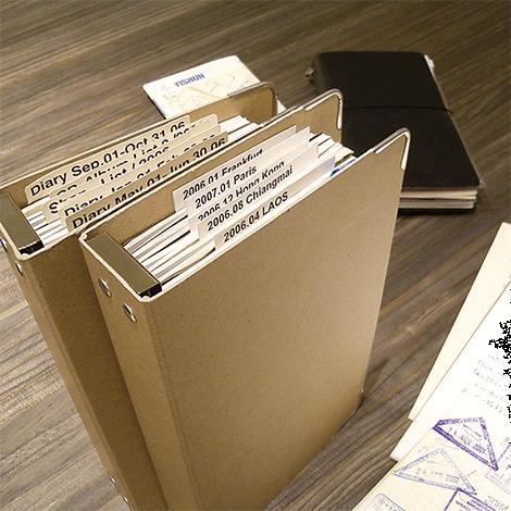 Midori Travelers notebook refill binder 011