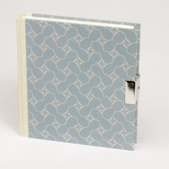 Dagboek met slot Suzette pastel blauw