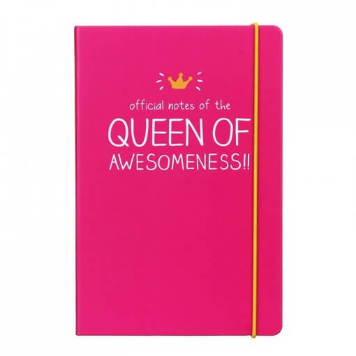 Happy Jackson notitieboek Queen of Awesomeness