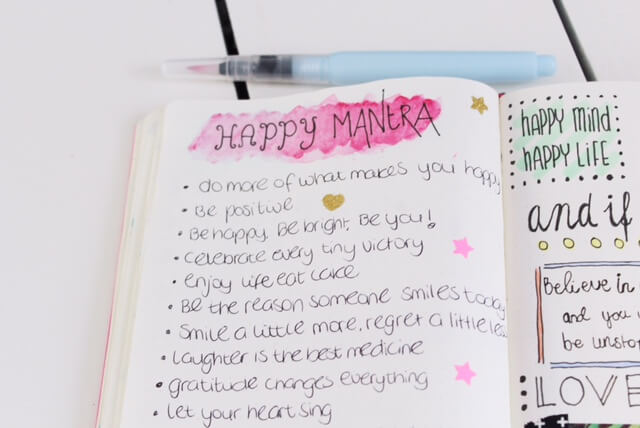 Happy spreads in mijn bullet journal