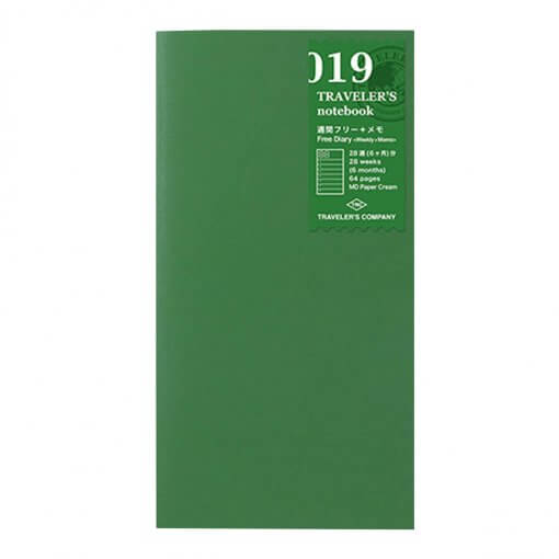 Midori Traveler's Notebook navulling free weekly + memo 019