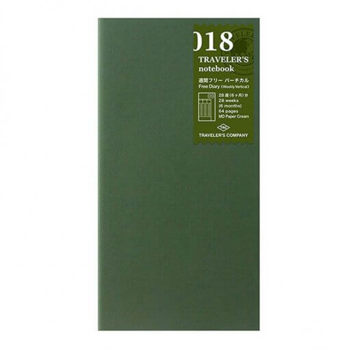 Midori Traveler's Notebook navulling free diary weekly 018
