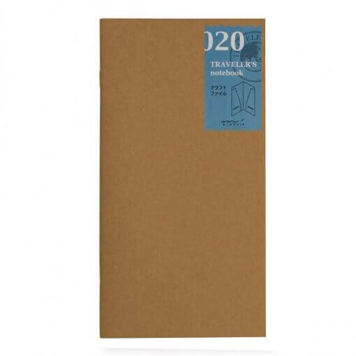 Midori Traveler's Notebook navulling kraft file 020