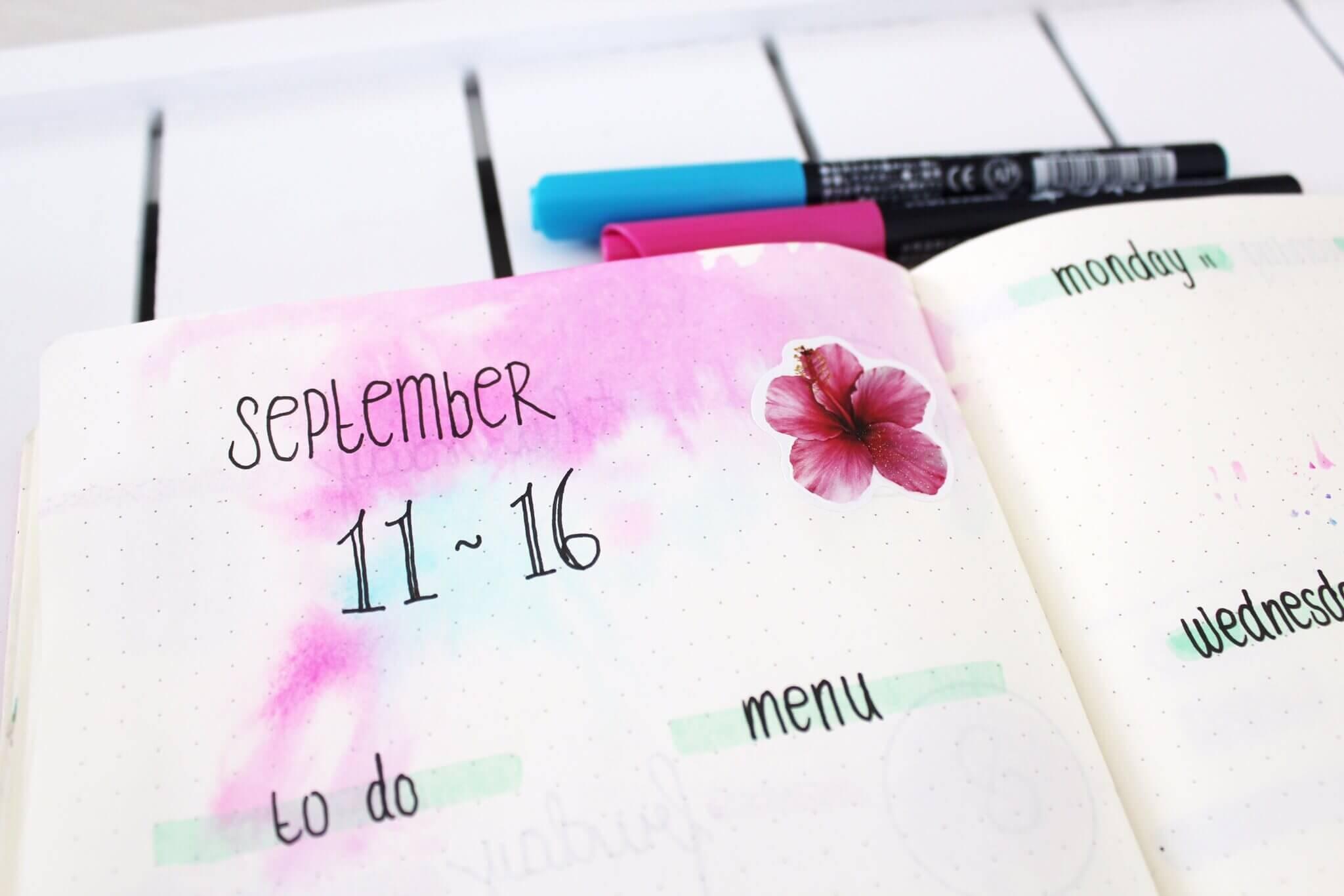 5 x simpele weekly spreads voor je Bullet journal