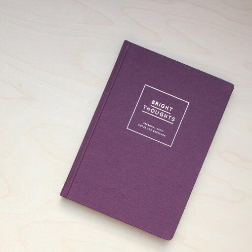 Navucko notitieboek Bright Thoughts bordeaux