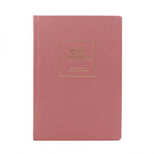 Navucko notitieboek bright thoughts roze