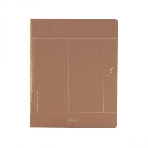 Tinne+mia notitieboek luxe A5 bruin macaroon
