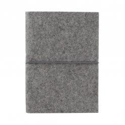Bindewerk notitieboek vilt grijs