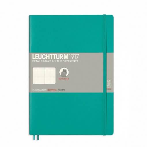 Notitieboek Leuchtturm1917 dotted B5 softcover emerald