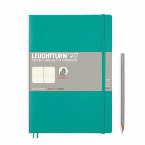 Notitieboek Leuchtturm1917 B5 dotted softcover emerald