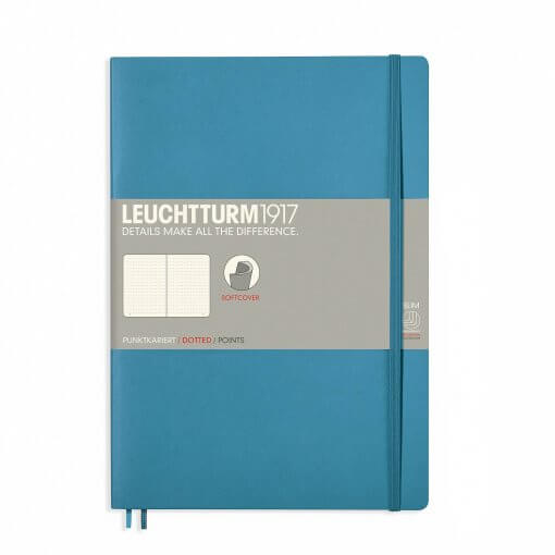 Notitieboek Leuchtturm1917 dotted B5 softcover nordic blue