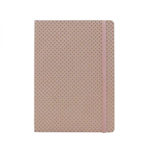 roze notitieboek met gouden stippen only natural