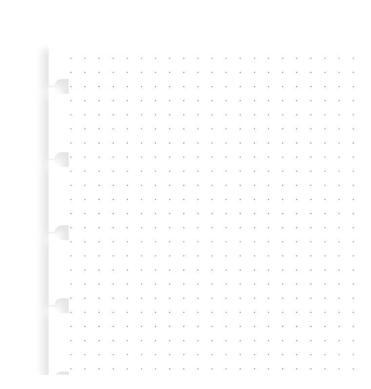 Filofax navullingen A5 dotted