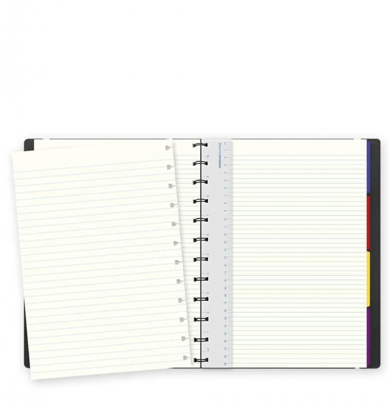 Filofax notitieboek classic zwart A4