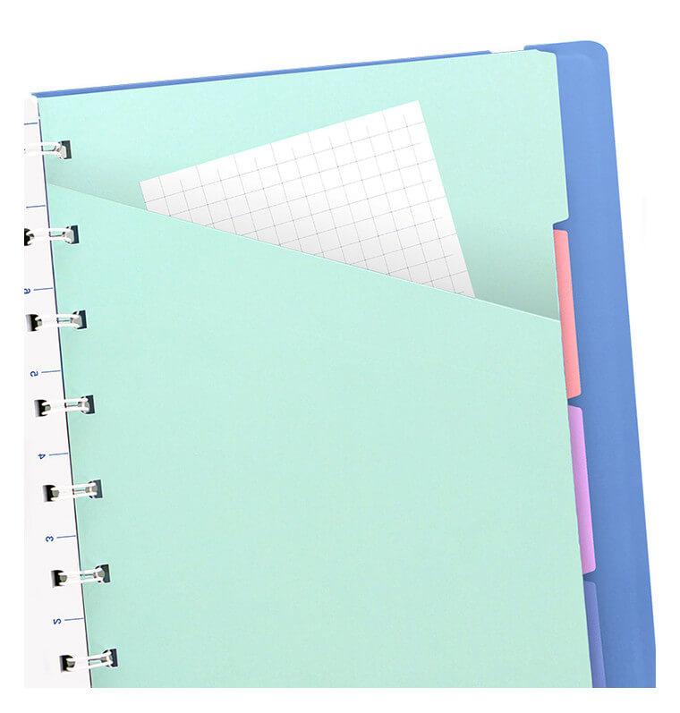 Filofax notitieboek pastel blauw A5