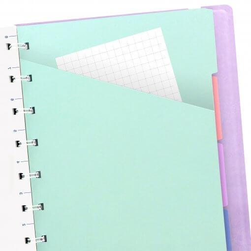 Filofax notitieboek pastel paars A5