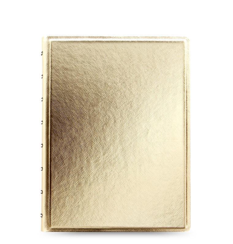 Filofax notitieboek saffiano metallic goud