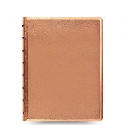 Filofax notitieboek saffiano metallic rosé goud