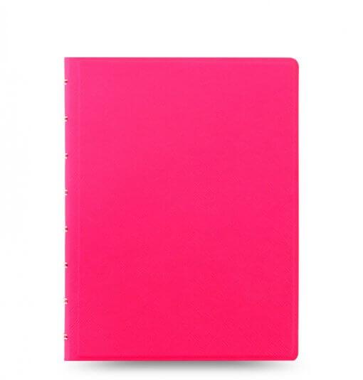 Filofax Notebook Saffiano Fluoro A5 Pink