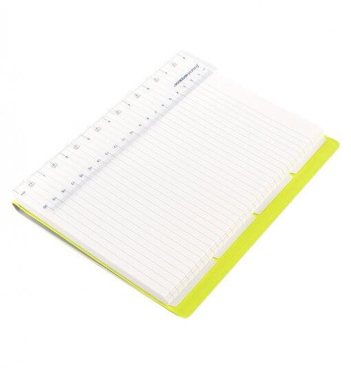 Filofax Notebook Saffiano grijs fluor geel A5