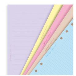 Filofax navulling organizer A5 gekleurd gelinieerd papier