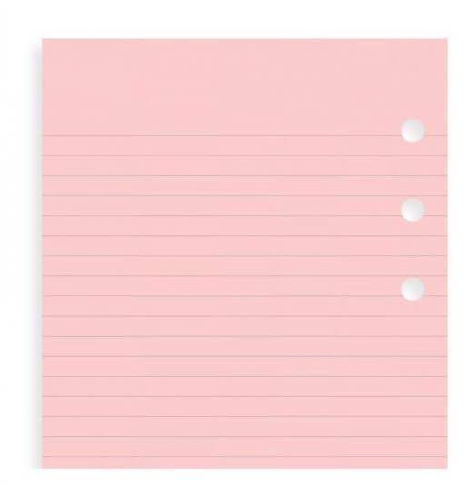 Filofax navulling organizer Personal roze lijntjes papier