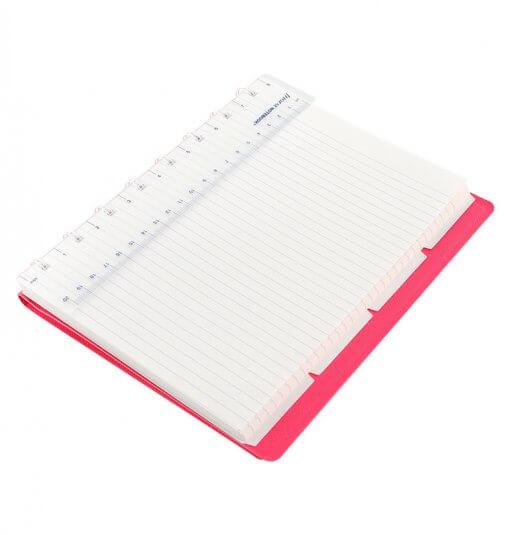 Filofax notitieboek Saffiano fluor roze A5