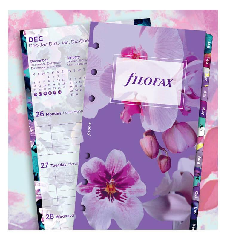 Filofax navulling organizer Personal 2019 floral