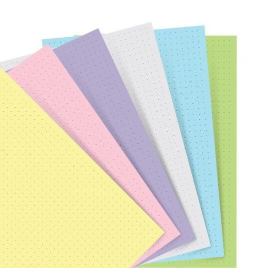 Filofax-navullingen-A5-notebook-pastel-dotted-papier