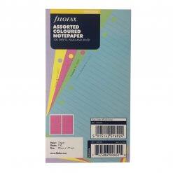 Filofax navulling organizer personal value pack gekleurd gelinieerd en blanco papier