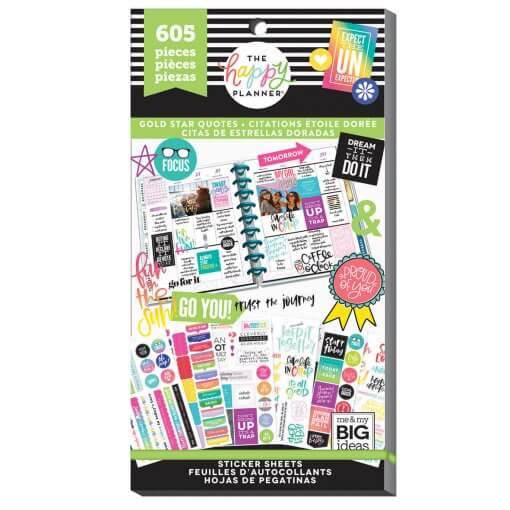 Me & My BIG Ideas stickers Gold Star Quotes Value Pack