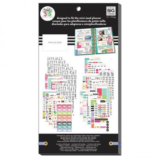 Me & My BIG Ideas stickers Mini Planner Basics Value Pack achterkant