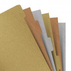 Filofax-tabbladen-Metallic