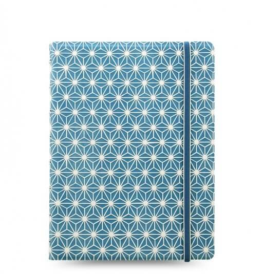 Filofax notitieboek blue & white