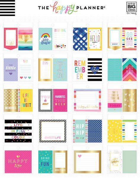 Tiny Sticker Pad - Bold & Bright