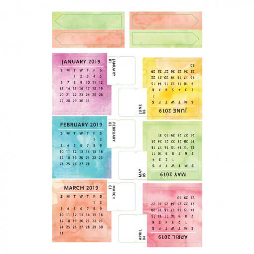 Peter Pauper 2018-2019 kalender sticker tabjes