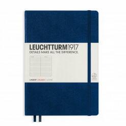 Leuchtturm1917 gelinieerd notitieboek navy blue