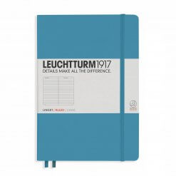 Leuchtturm1917 gelinieerd notitieboek nordic blue