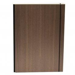 Bindewerk-notitieboek-A4-purist-wood-Walnoot