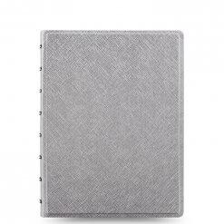Filofax-notitieboek-saffiano-metallic-silver