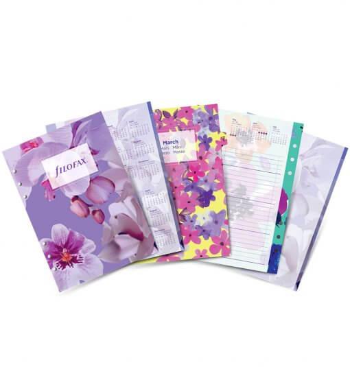 Filofax-navulling-Organizer-A5-floral-agenda-2019.