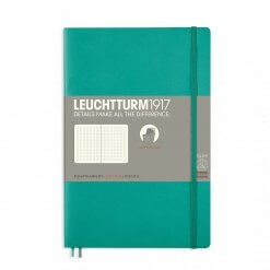 Leuchtturm1917-notitieboek-softcover-b6-dotted-emerald-