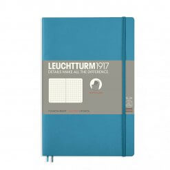 Leuchtturm1917-notitieboek-softcover-b6-dotted-nordic-blue-