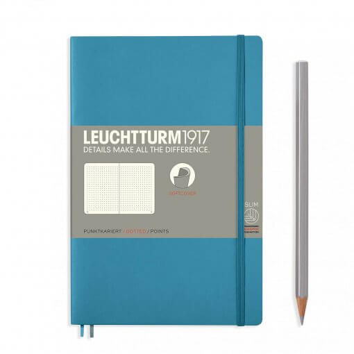 Leuchtturm1917-notitieboek-softcover-b6-dotted-nordic-blue