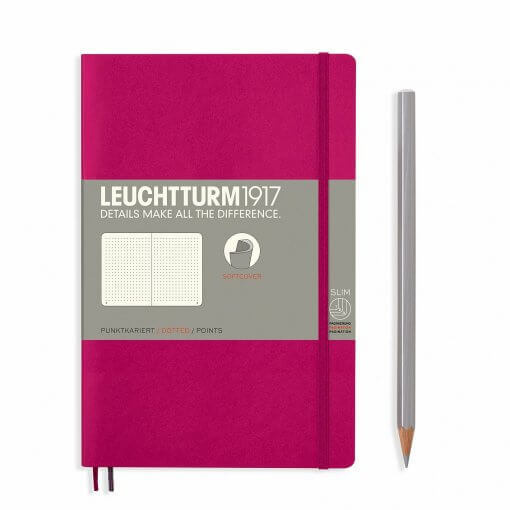 Leuchtturm1917-notitieboek-softcover-b6-dotted-berry